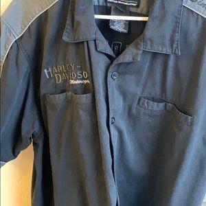 Harley Davidson button down shirt